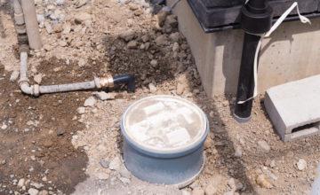 屋外の排水管